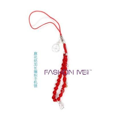 红绳编法耳环图片
