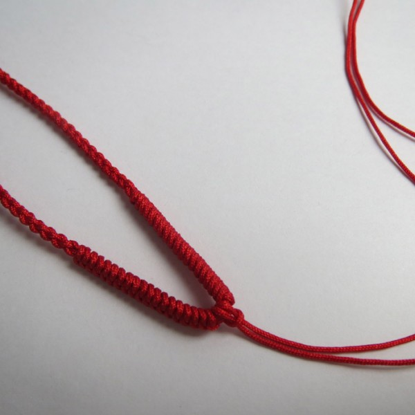红绳十式_观音佛红绳编织项链 仿玉佛项饰